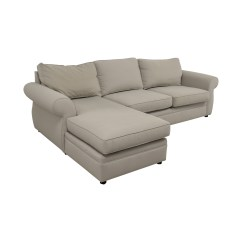 Pottery Barn Chaise Sofa Sectional Contemporary Bed With Storage 90 Off Townsend Cream