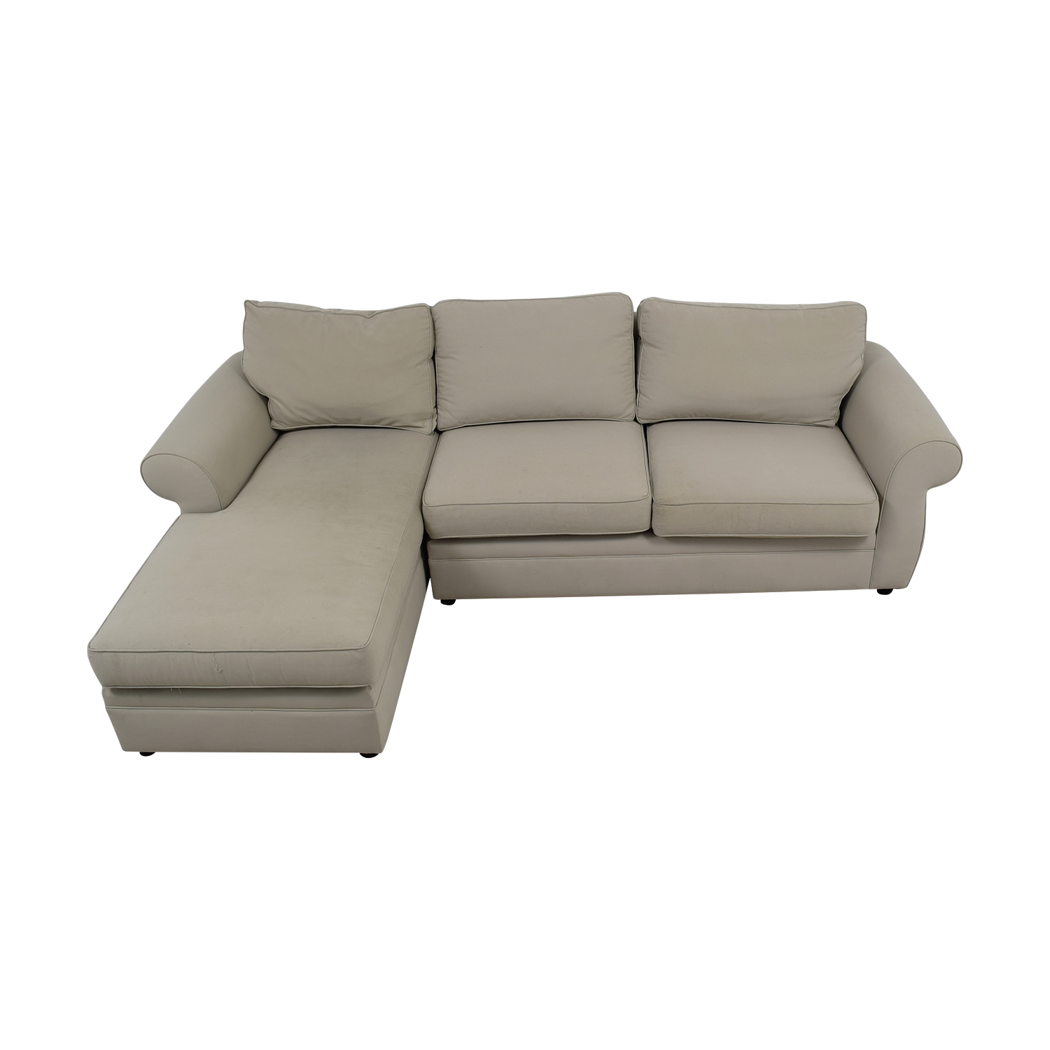 pottery barn chaise sofa sectional modern with metal legs sectionals used for sale