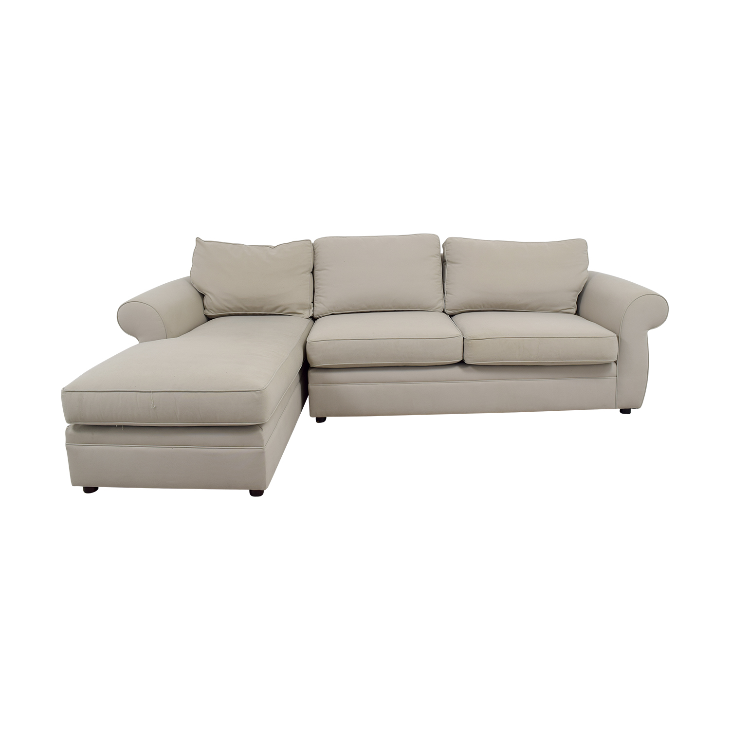 pottery barn chaise sofa sectional restoration hardware leather warranty sectionals used for sale