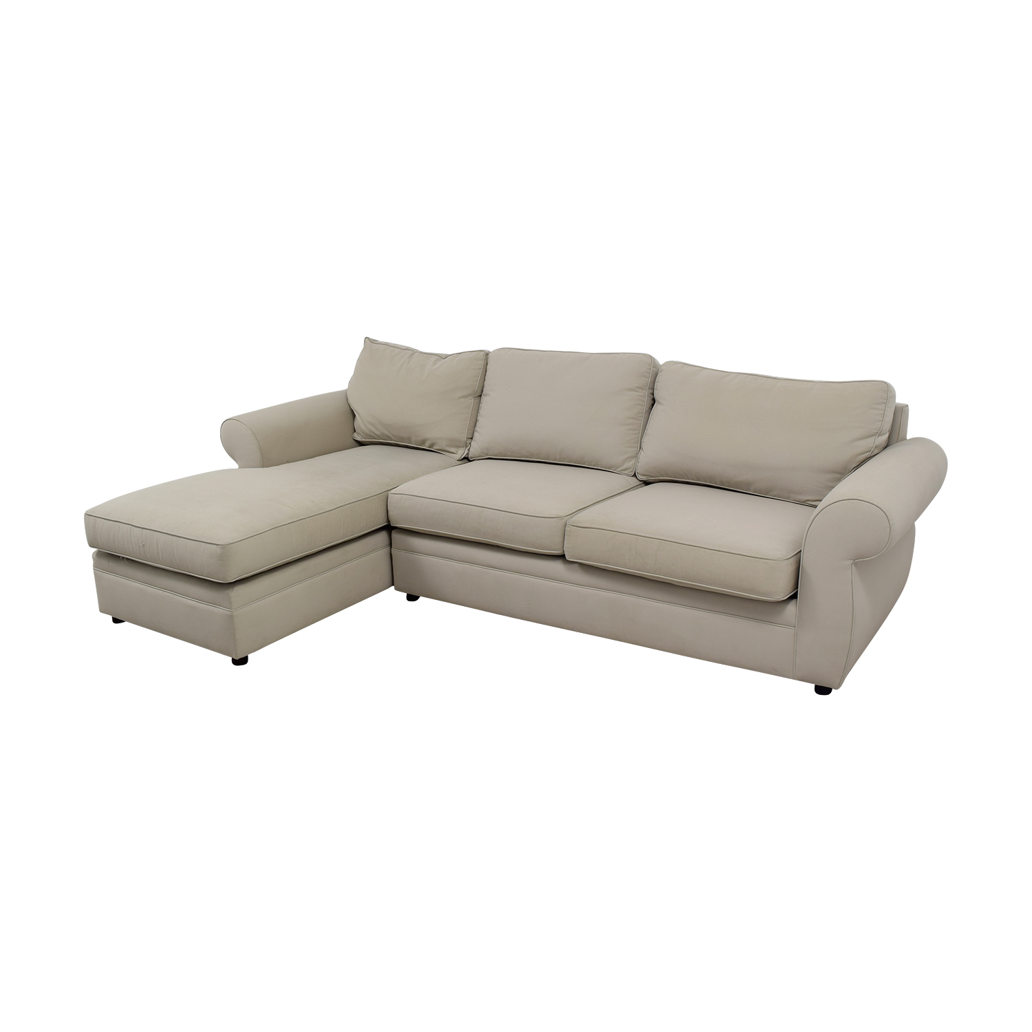 pottery barn chaise sofa sectional best inexpensive sleeper sofas 90 off townsend cream
