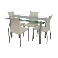 85% OFF - Glass and Chrome Kitchen Dining Set / Tables