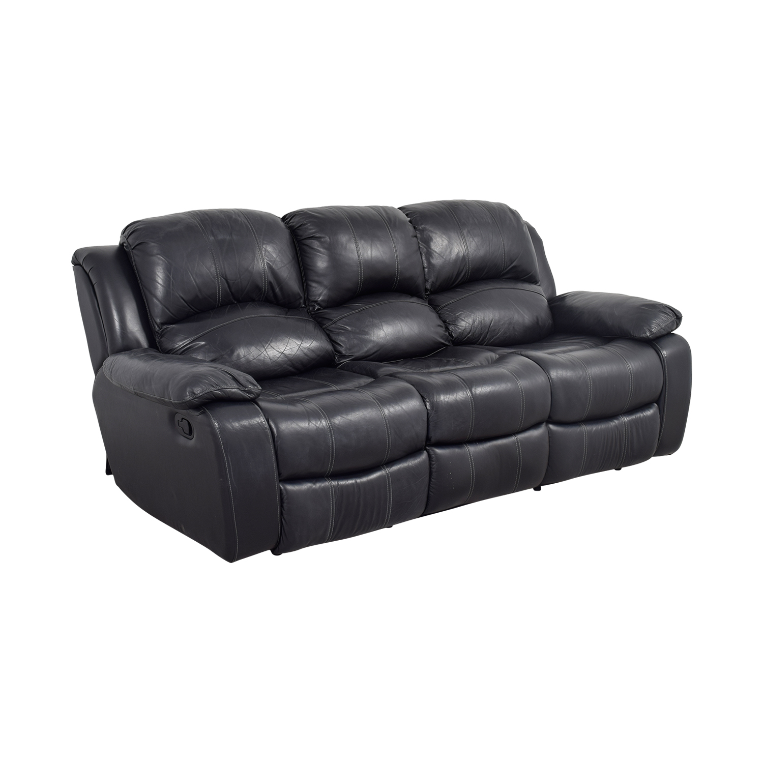 70 Off Black Leather Reclining Sofa Sofas