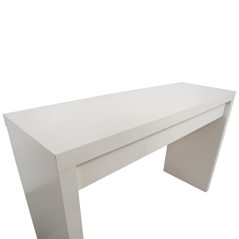 54 OFF  IKEA IKEA Malm White Single Drawer Narrow Desk