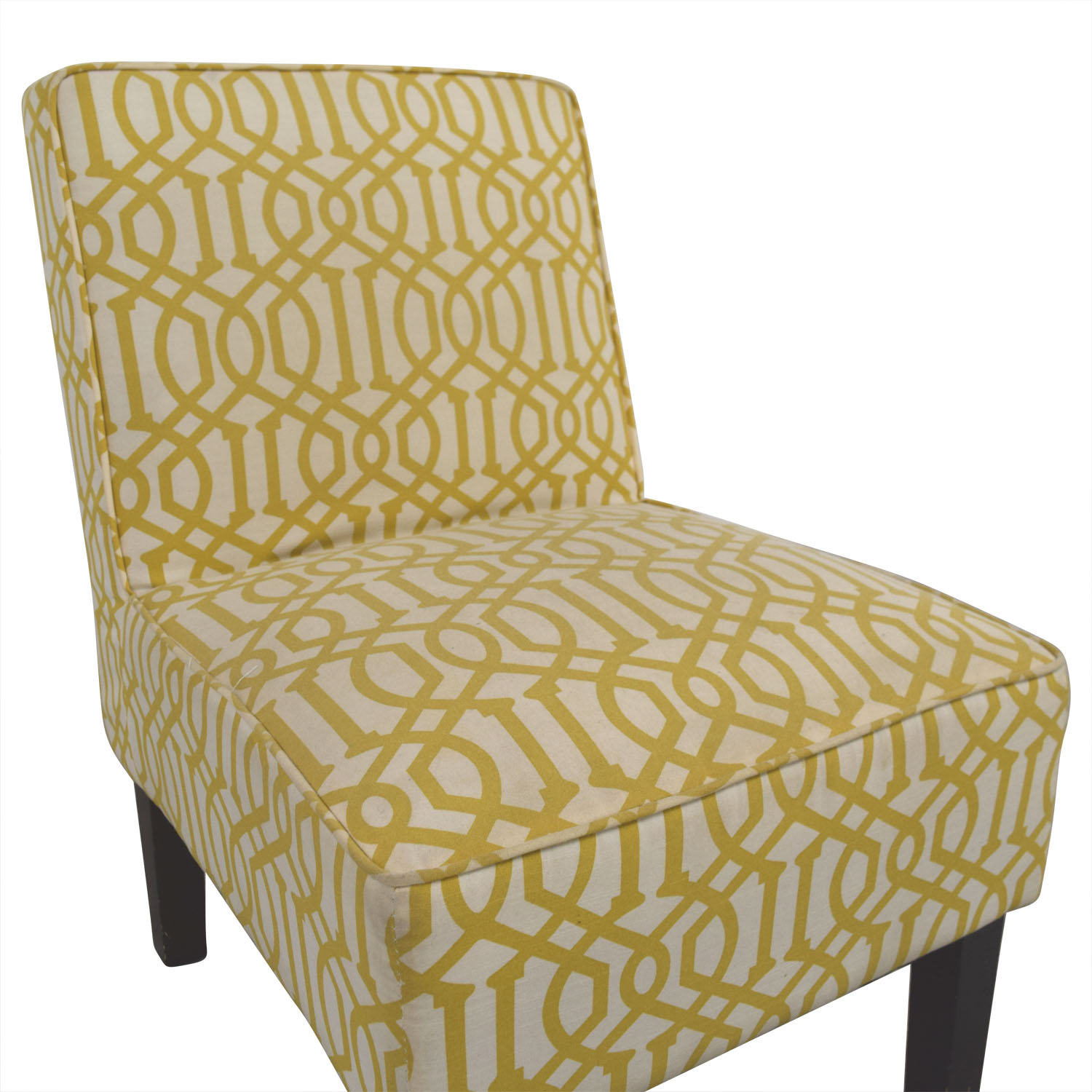 Yellow And White Accent Chair