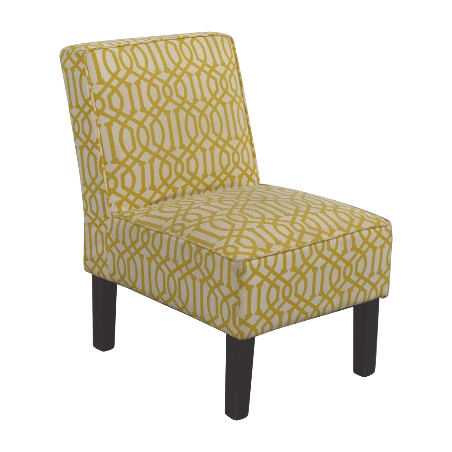 85 OFF  Yellow and White Accent Chair  Chairs