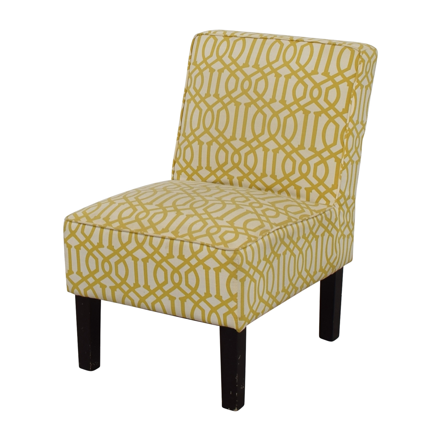 Yellow Side Chair 85 Off Yellow And White Accent Chair Chairs