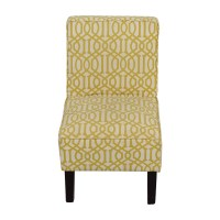 85% OFF - Yellow and White Accent Chair / Chairs