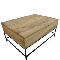 47% OFF - West Elm West Elm Rustic Wood Coffee Table / Tables