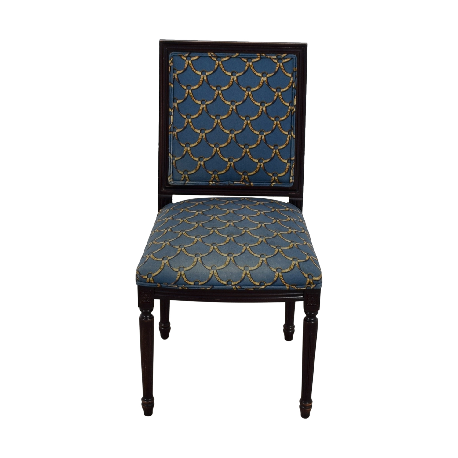 ballard designs upholstered dining chairs lego table with storage and 88 off blue gold