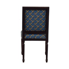 Ballard Designs Upholstered Dining Chairs Resin Weave Garden 88 Off Blue And Gold