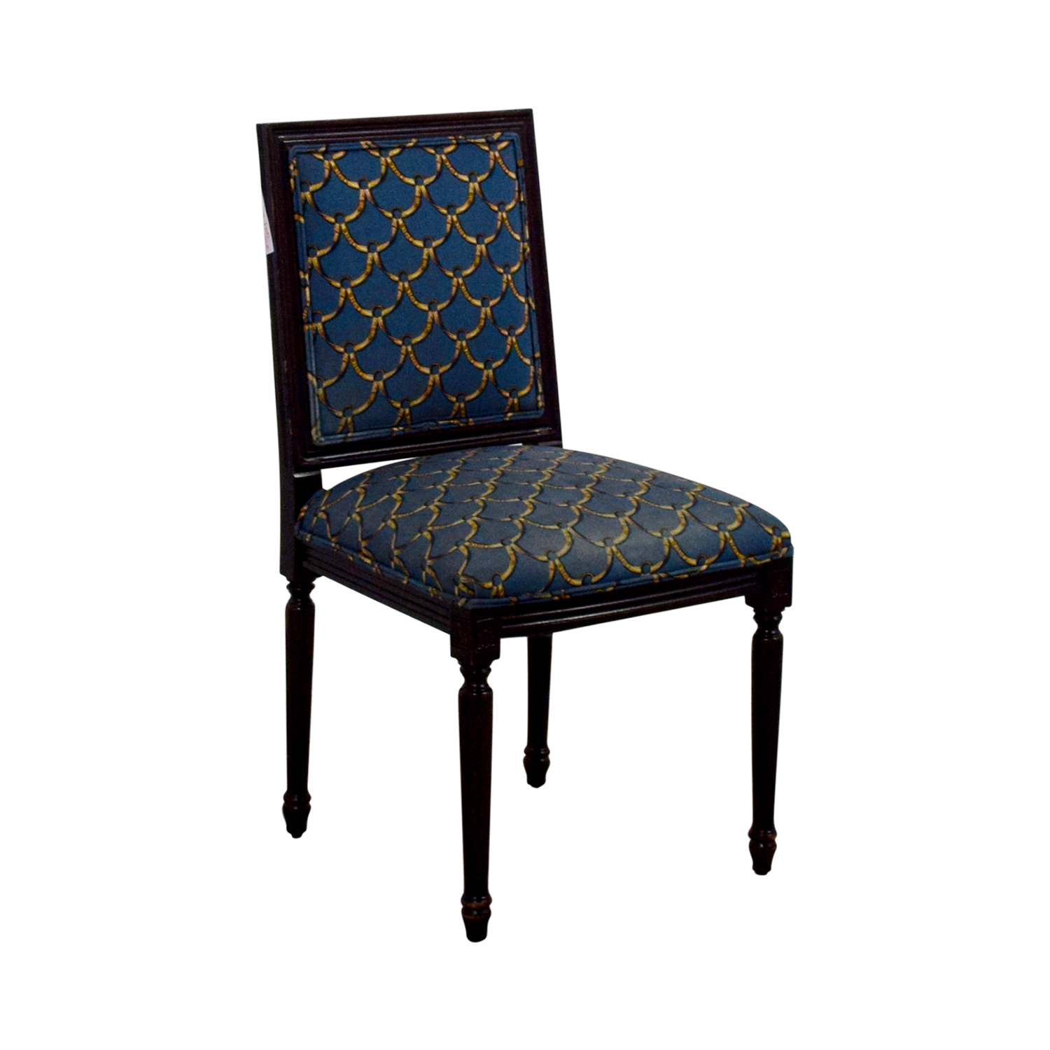 ballard designs upholstered dining chairs thinking chair for sale 88 off blue and gold