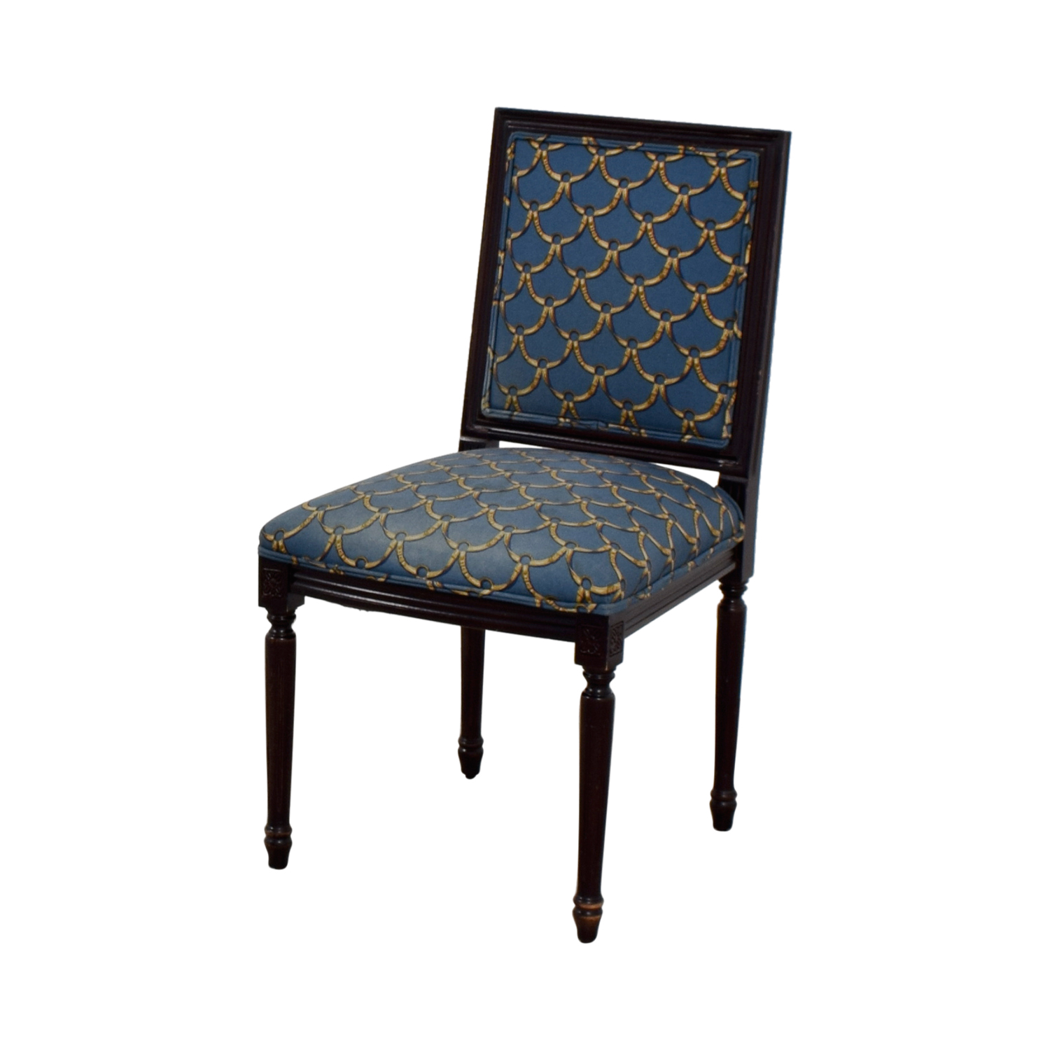 ballard designs upholstered dining chairs navy chair covers wedding 88 off blue and gold