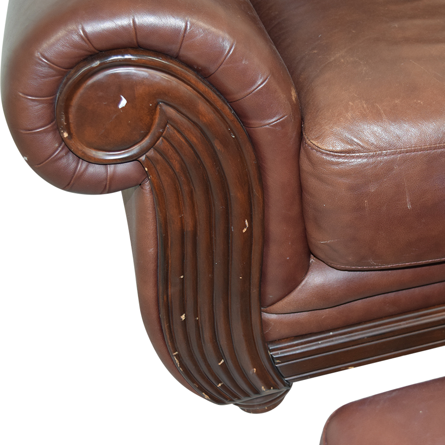 accent chairs to go with brown leather sofa karina 80 down blend sleeper 54 off rooms chair and