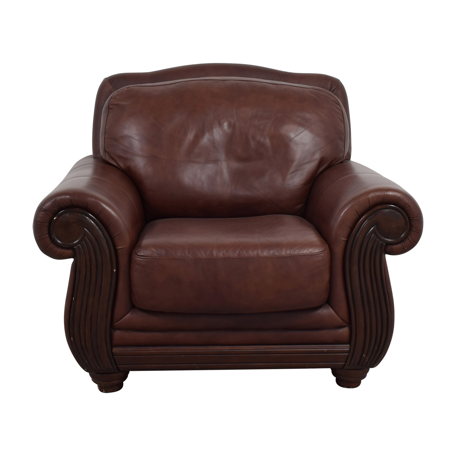 Go Chair 69 Off Rooms To Go Rooms To Go Brown Leather Accent