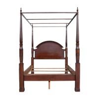 75% OFF - Dark Wood Queen Bed Frame / Beds