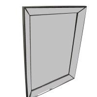54% OFF - Silver Framed Wall Mirror / Decor