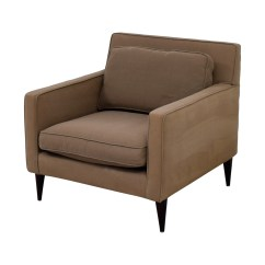 Barrel Accent Chair Browning Strutter 78 Off Crate And Rochelle Grey