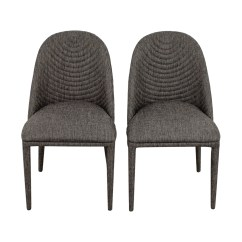 Grey Upholstered Dining Chairs Vintage Leather Desk Chair 81 Off Mercury Row Artrip