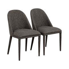 Grey Upholstered Dining Chairs Oversized Saucer Chair Black 81 Off Mercury Row Artrip