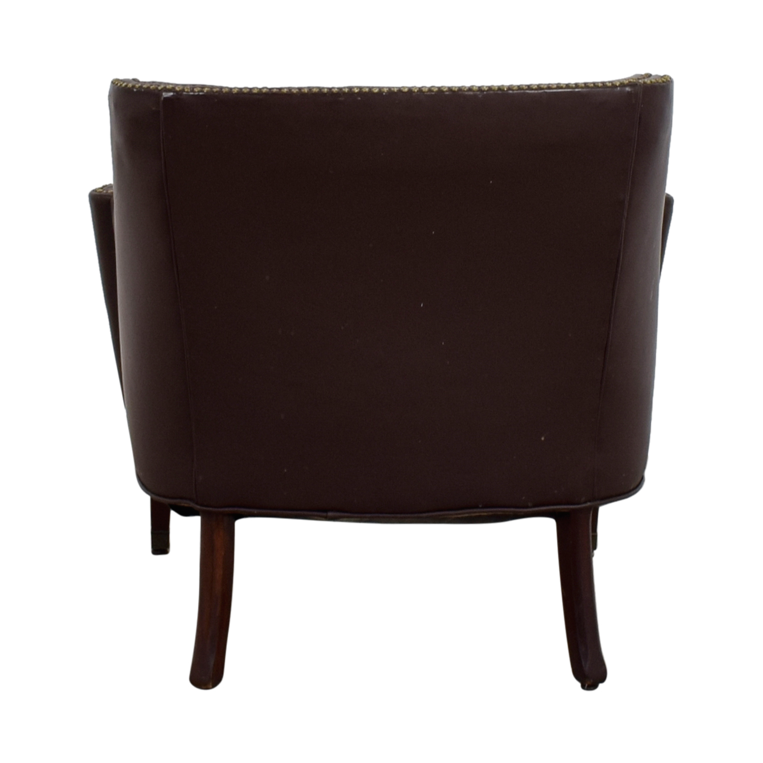 pier 1 leather chair glider chairs canada 70 off imports brown