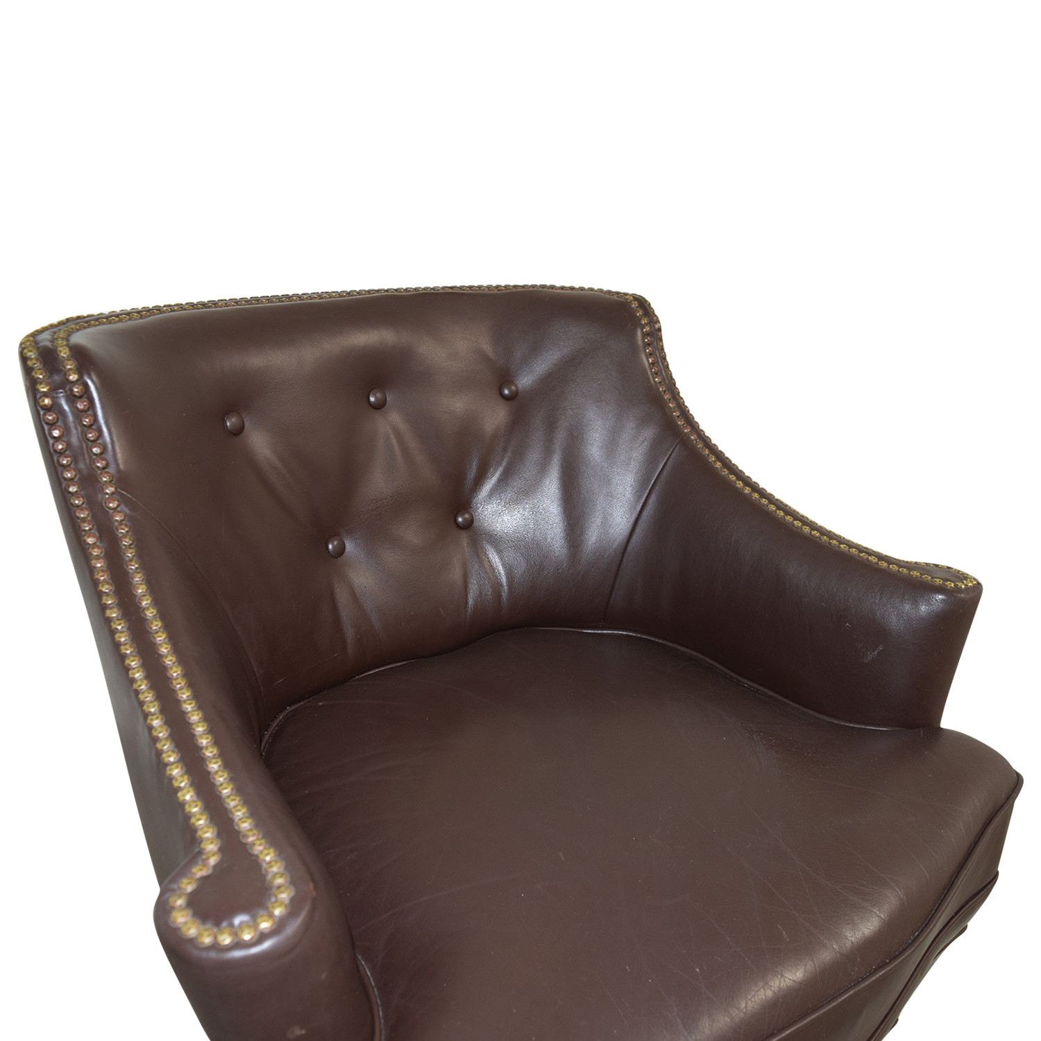 pier 1 leather chair papasan on sale 70 off imports brown