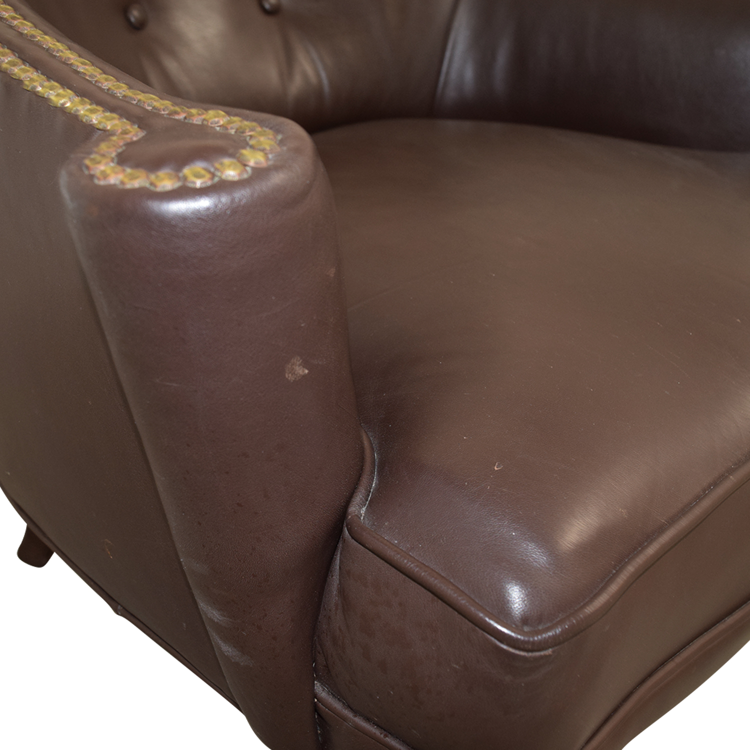 pier 1 leather chair grey bedroom ikea 70 off imports brown