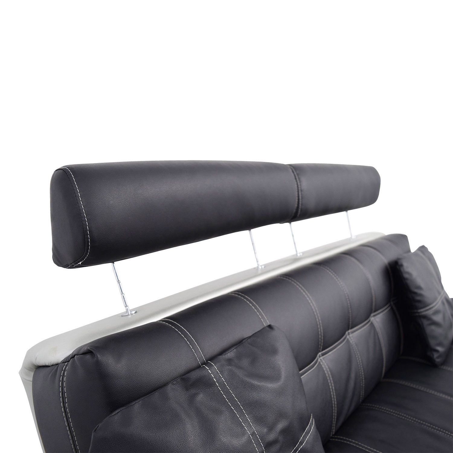 black leather sofa small 2 seater laura ashley 52 off with pillows sofas