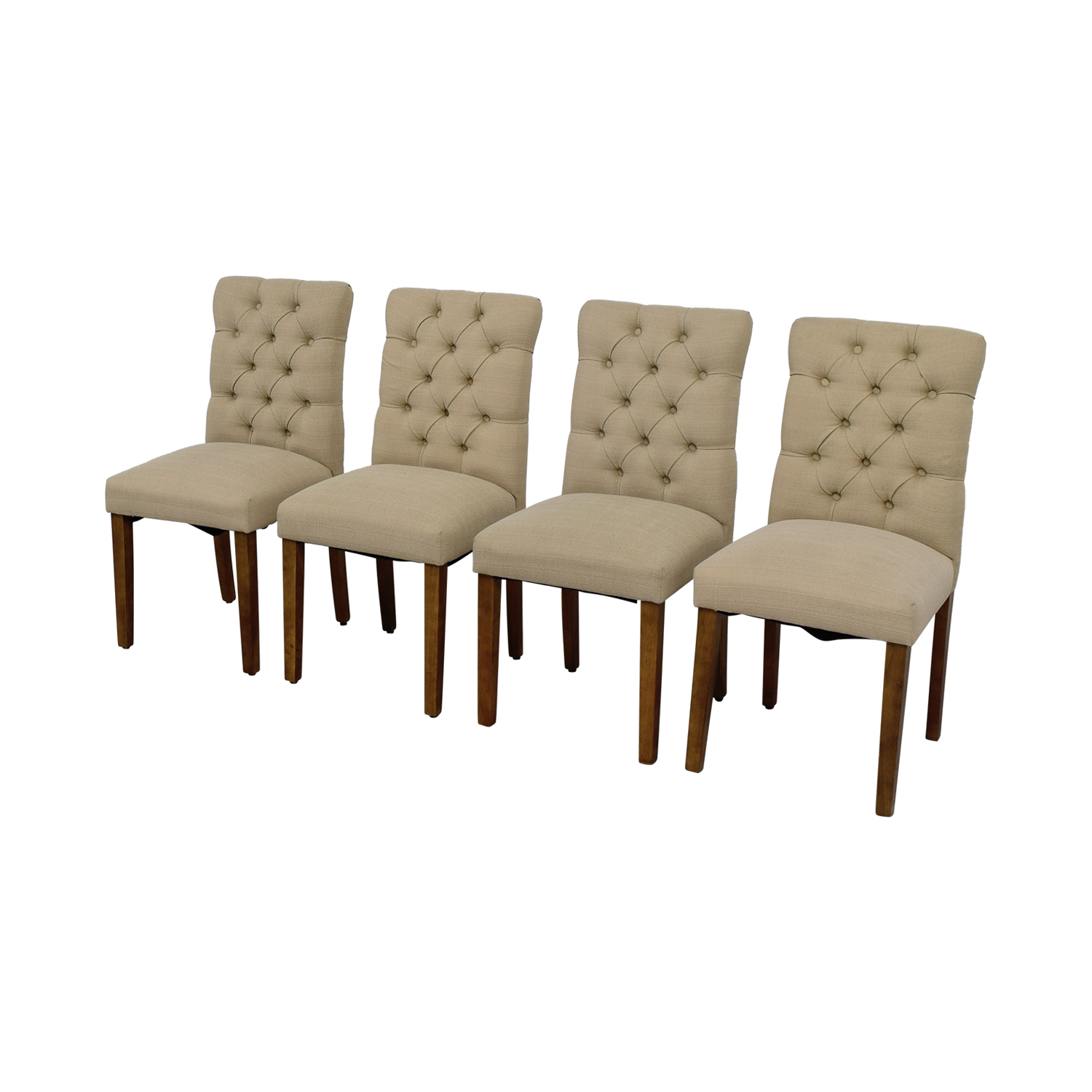 target chairs dining plus size folding chair 67 off brookline threshold tan tufted