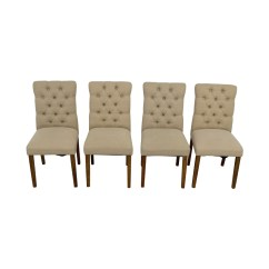 Target Chairs Dining White Lawn Plastic 67 Off Brookline Threshold Tan Tufted