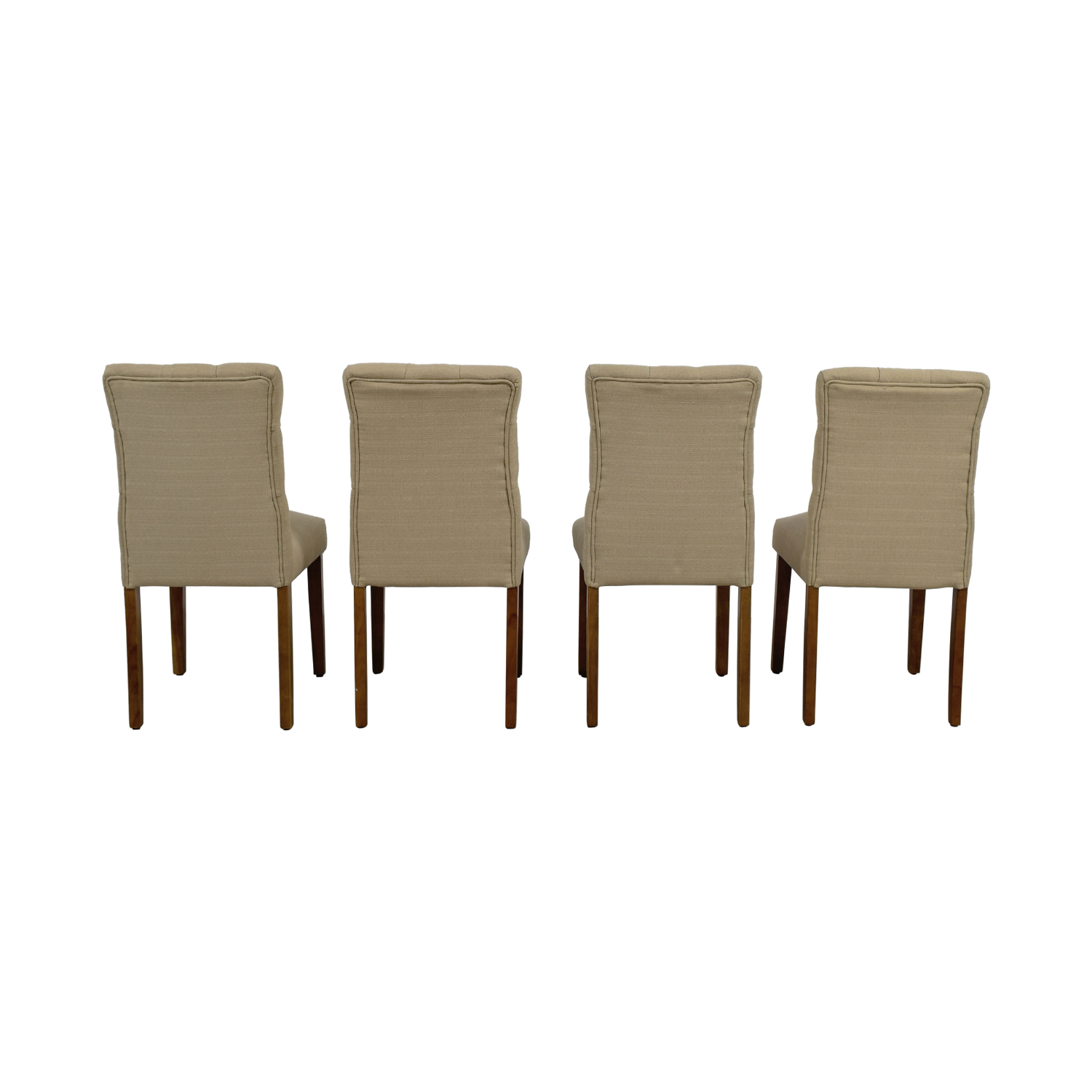 target dining chairs round table and 67 off brookline threshold tan tufted