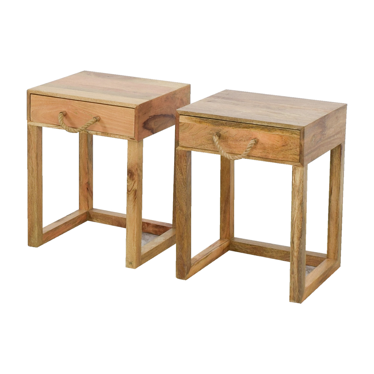 71 OFF  Target Target Natural Wood Night Stands  Tables