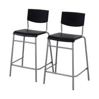 50% OFF - IKEA IKEA Stig Black Bar Stools / Chairs