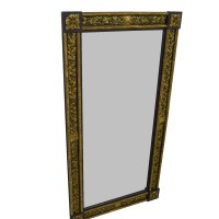 84% OFF - Gold and Silver Framed Wall Mirror / Decor