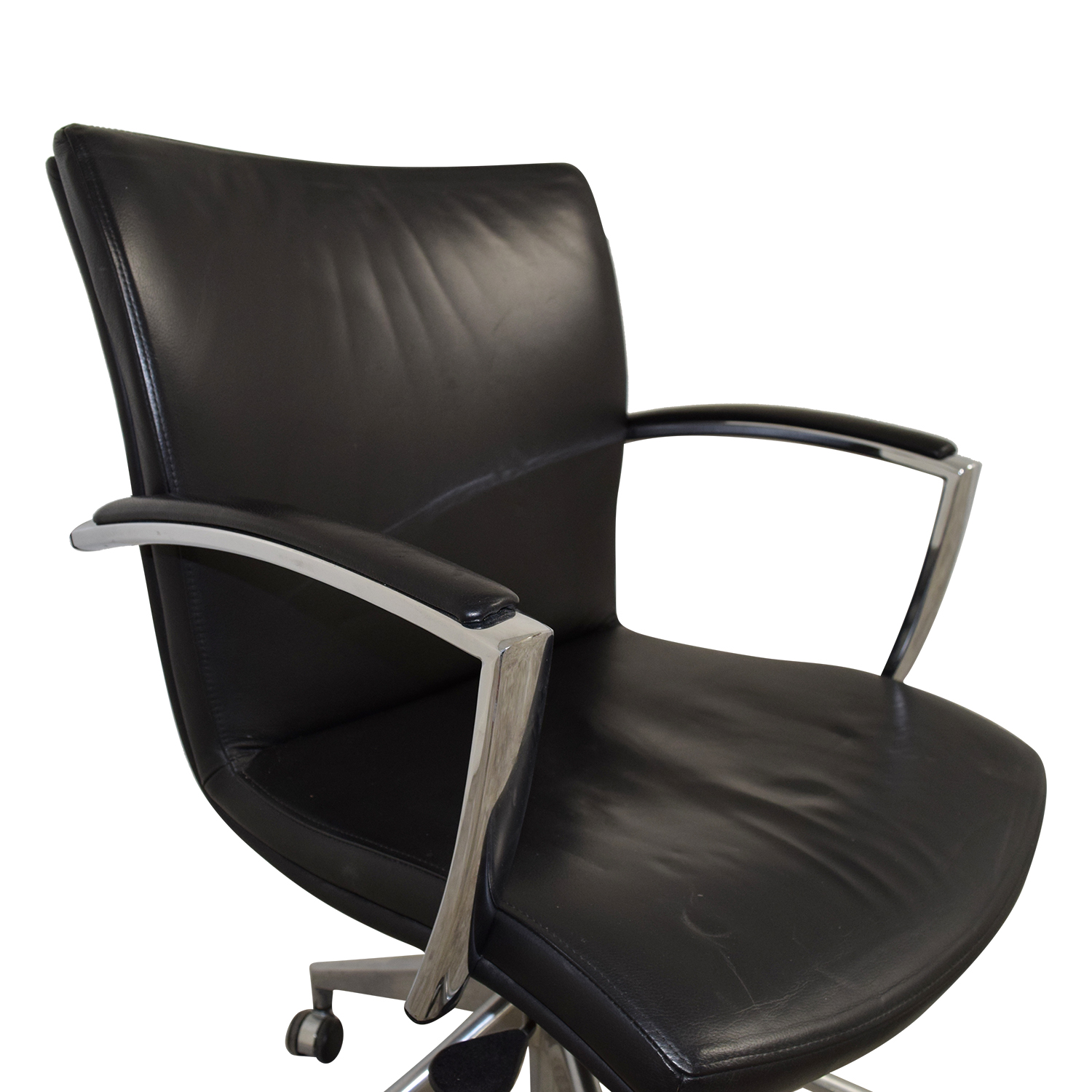 black leather desk chairs dining room chair covers ebay uk 61 off