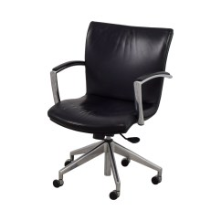 Black Leather Desk Chairs Raynor Eurotech Ergohuman Mesh Mid Back Task Chair 61 Off