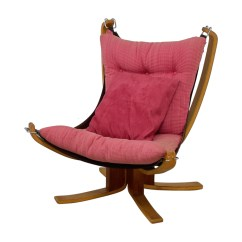 Sling Chairs For Sale Red Swivel Living Room 80 Off Danish Modern Pink Chair