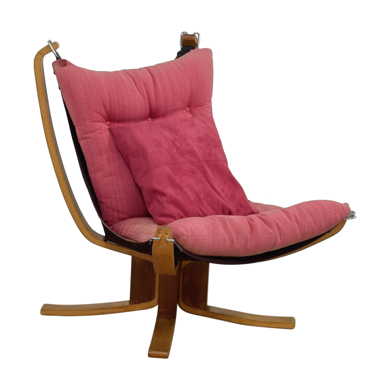 pink accent chair electric videos 80 off danish modern sling chairs