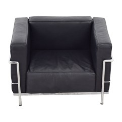Le Corbusier Sofa Replica How To Ship A Out Of State 79 Off Black Lounge Chair Chairs