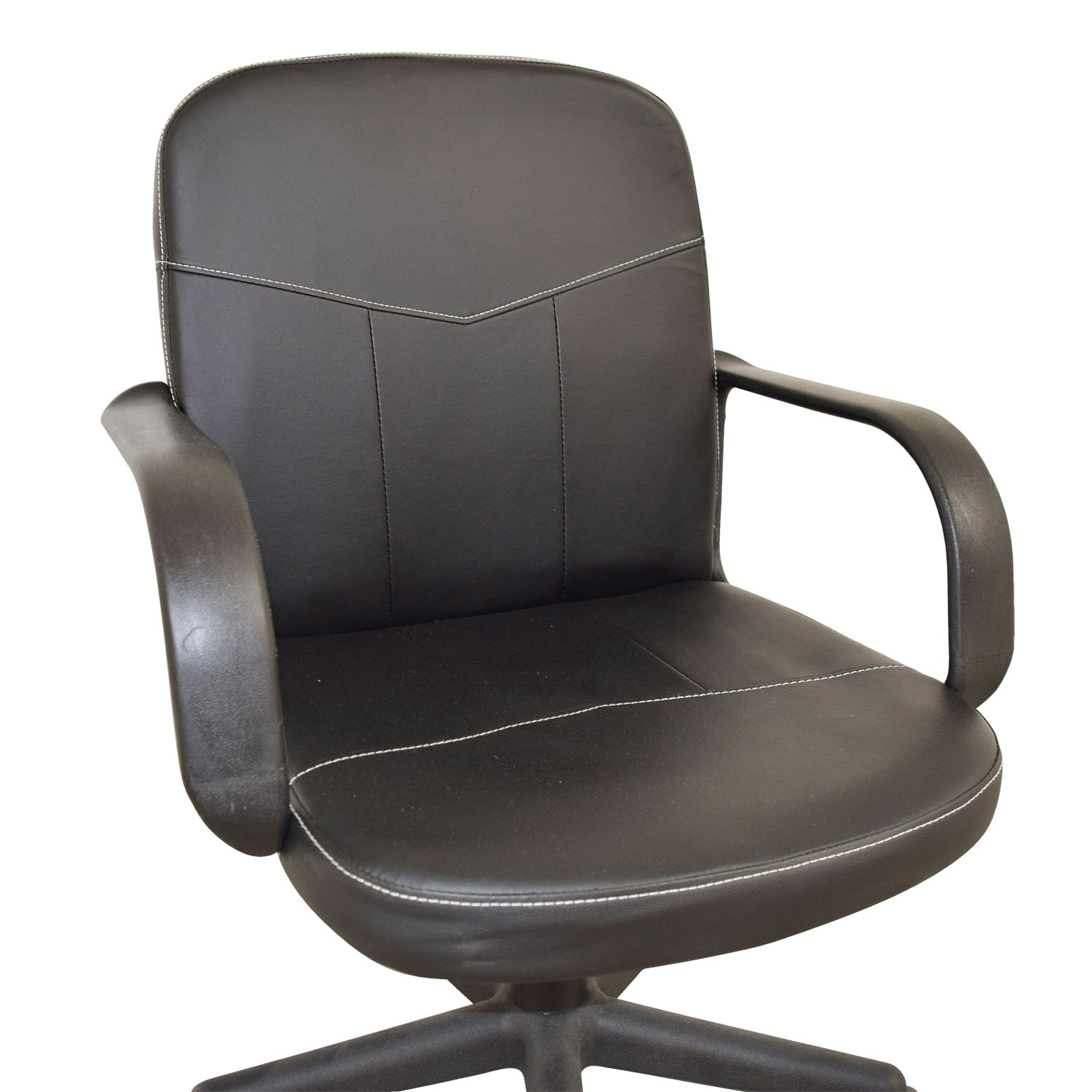 black bonded leather chair resin adirondack chairs 58 off comfort products