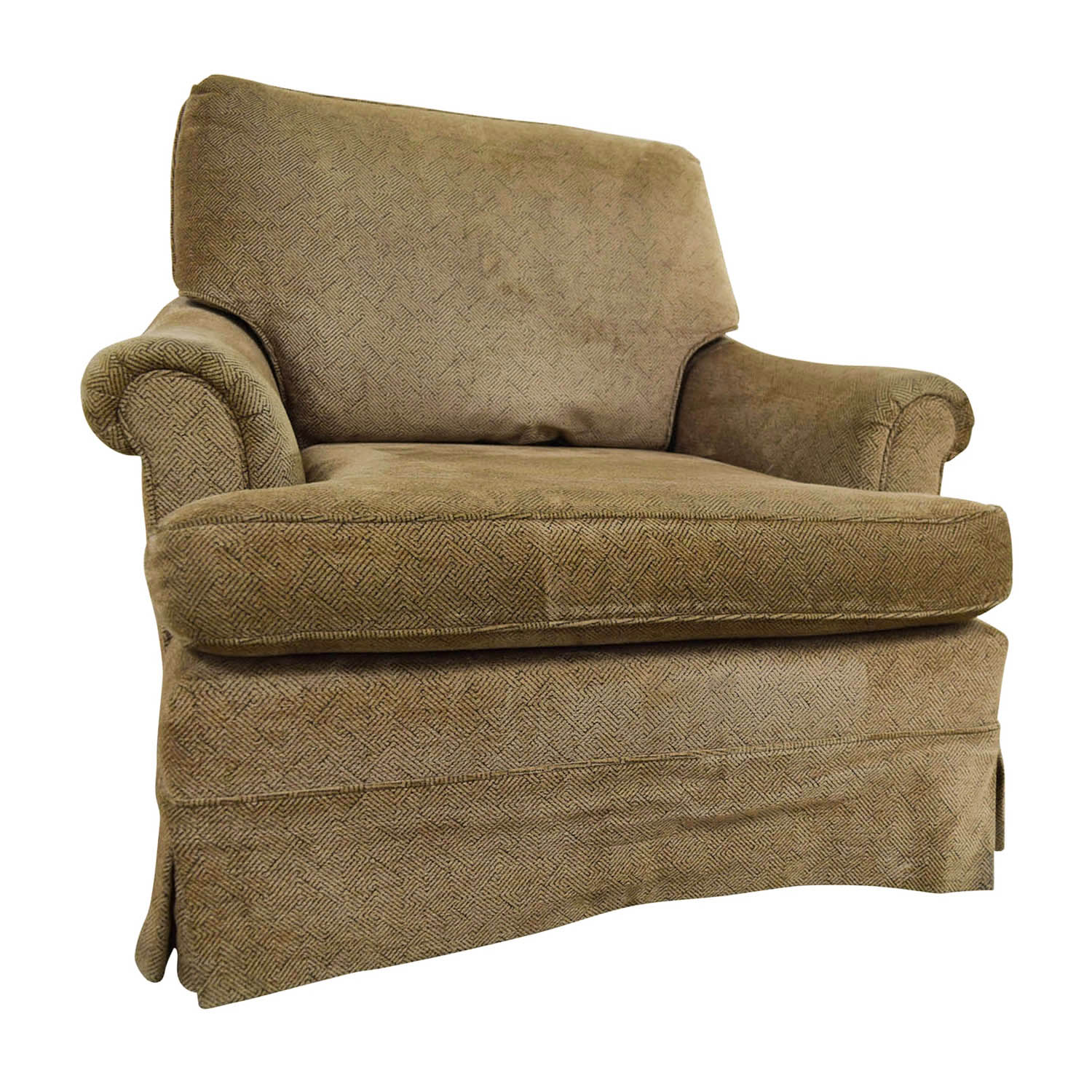 Tan Accent Chair 90 Off Tan Upholstered Accent Chair With Foot Stool