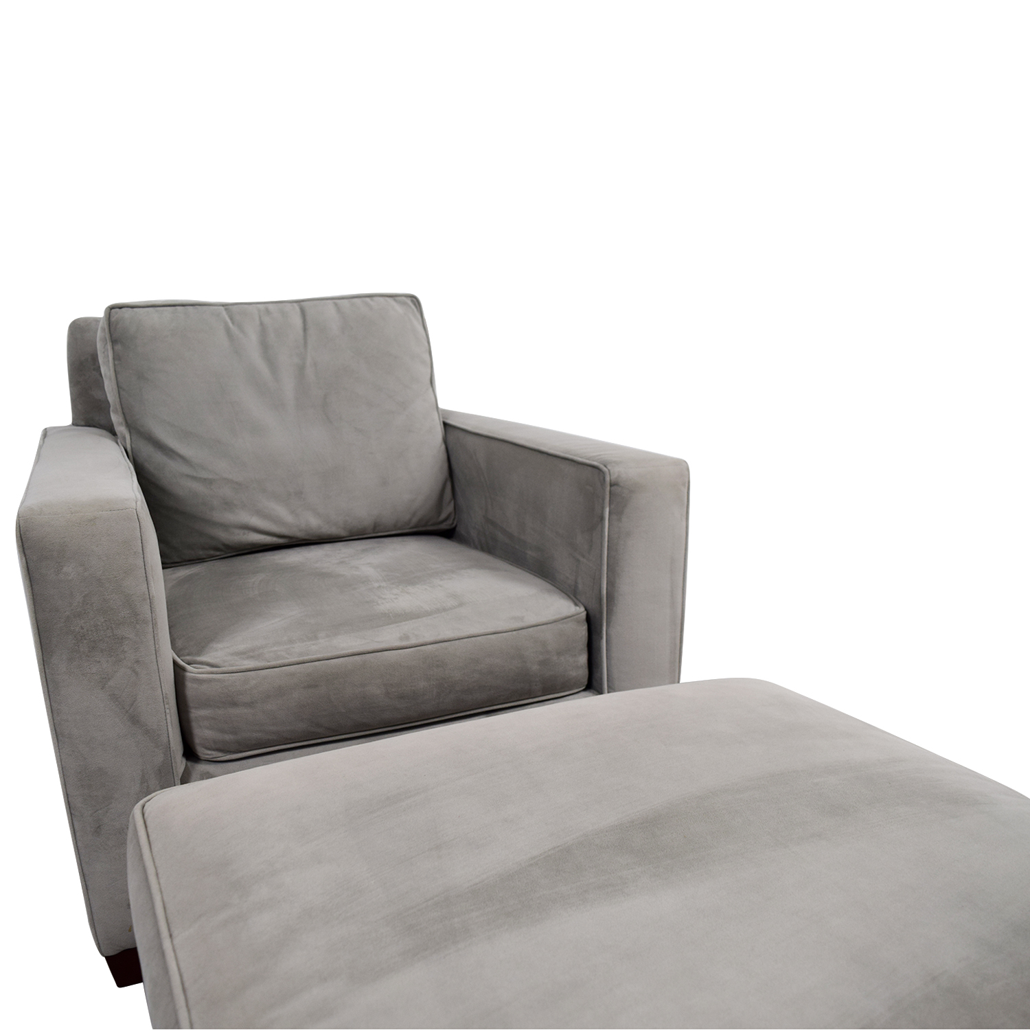 gray accent chair with ottoman ikea tub covers ebay 49 off west elm grey and