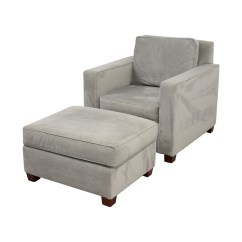 Gray Accent Chair With Ottoman Best Rocker Recliner Swivel 49 Off West Elm Grey And