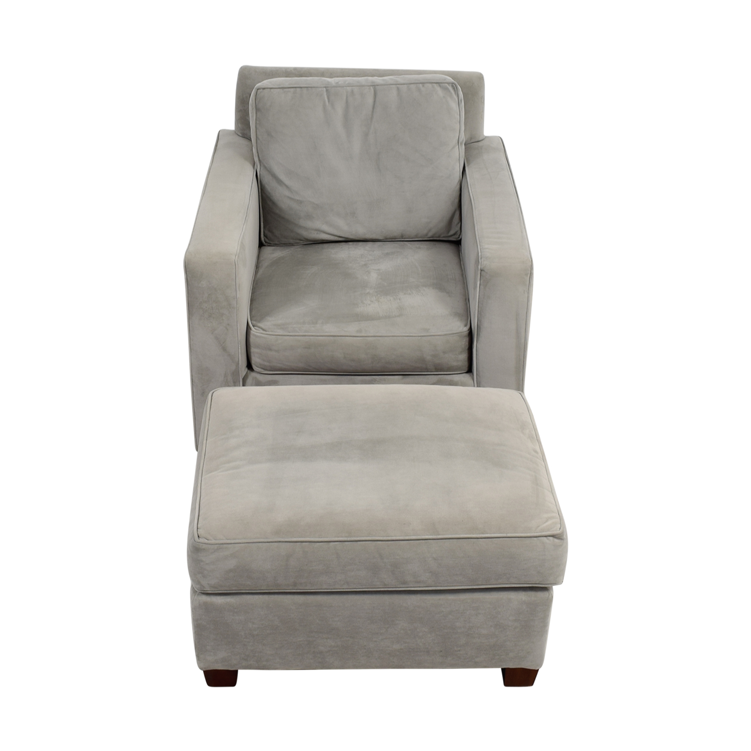 accent chairs with ottoman fabric to cover 49 off west elm grey chair and