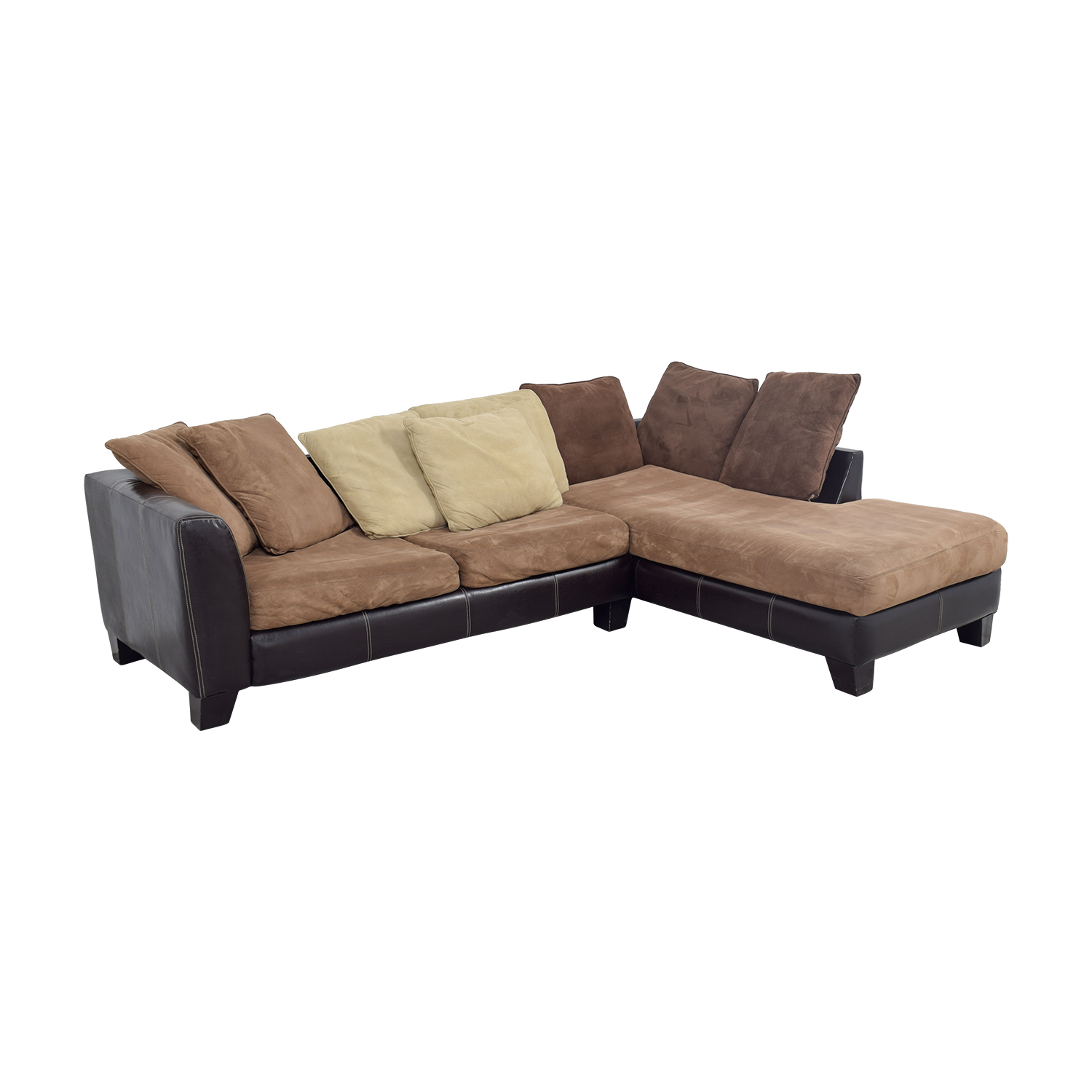 8642 transitional sectional sofa with chaise by albany 6 tapered legs industries capri brown