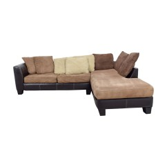 8642 Transitional Sectional Sofa With Chaise By Albany Futon Beds Argos Industries Capri Brown