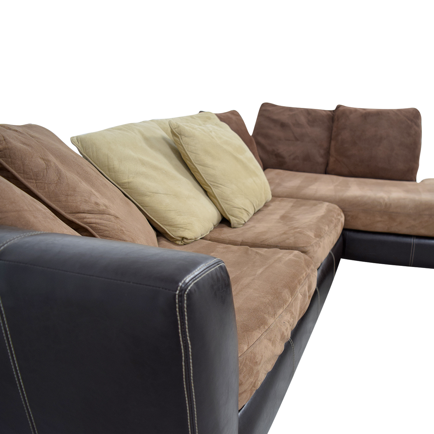 albany industries leather sofa can you recover sofas with fabric 89 off brown chaise