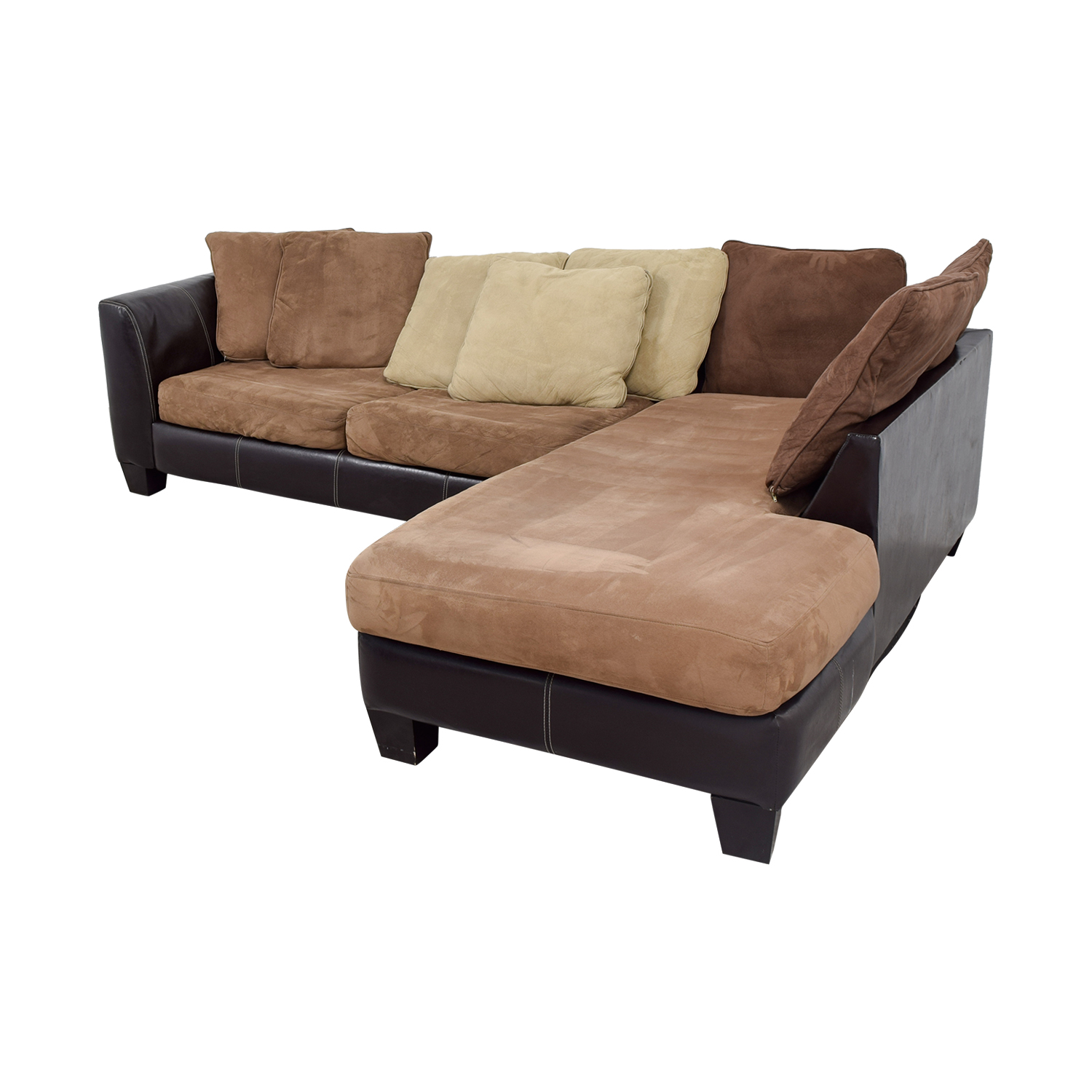 albany industries leather sofa madrid 89 off brown chaise
