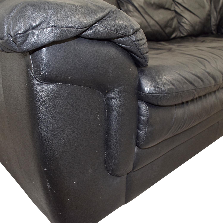 classic italian leather sofa garment steamer 77 off jennifer black
