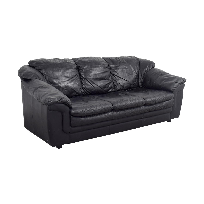 classic italian leather sofa james sofasonke mpanza 77 off jennifer black