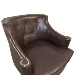 Pier 1 Leather Chair Mccabe Camping Chairs 90 Off Imports Brown Side